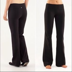 Lululemon wunder under wide leg yoga pants